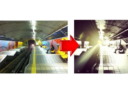 До-после обработки фото
