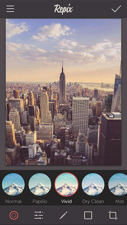 Repix - программа для обработки фото на айфон